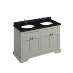 Freestanding 130 Vanity Unit with doors- Black Granite worktop